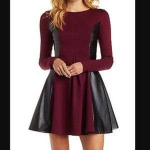 Charlotte Russe Small Faux Leather Skater Dress